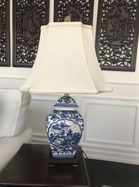 Barclay Butera Blue & White lamp