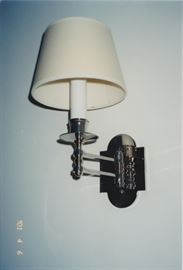 Adjustable Polished Nickel Wall Adjustable Wall Lamp