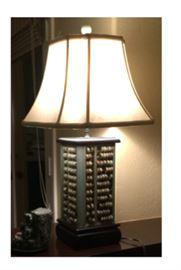 Jade Abacus Lamp