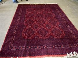 Afghan Turkmen Rug with Light gold trim                                  9 x 66 ft