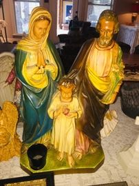 vintage plaster Holy Family