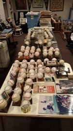Autographed baseballs   Mantle, Berra, Mays, Aaron,Ford, Larsen,DiMaggio, Maris, Jeter and Many more.