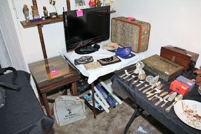 Retro Snake Skin Suitcase, Backgammon Game Table