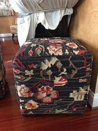 Pair of Kilim ottomans - like new