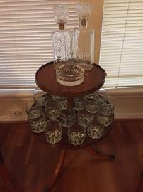 2 Tier Table Brandy Glass