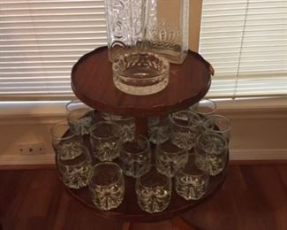 2 Tier Table Brandy Glass