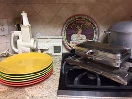 Antique Waffle Maker Coke Tray