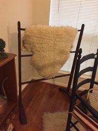 Antique Quilt Rack Rug