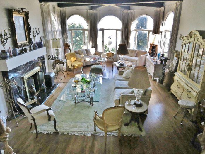 Large Living Room chock Full of Beautiful Furnishings