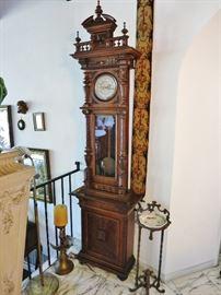 Late-19th. C. Eastlake Tall Case Pendulum Chiming Clock