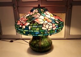 Pretty Stained Glass Style Lamp