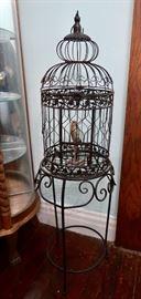 Iron Bird Cage on Stand