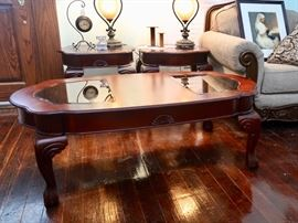 Coffee Table w/Glass Inserts