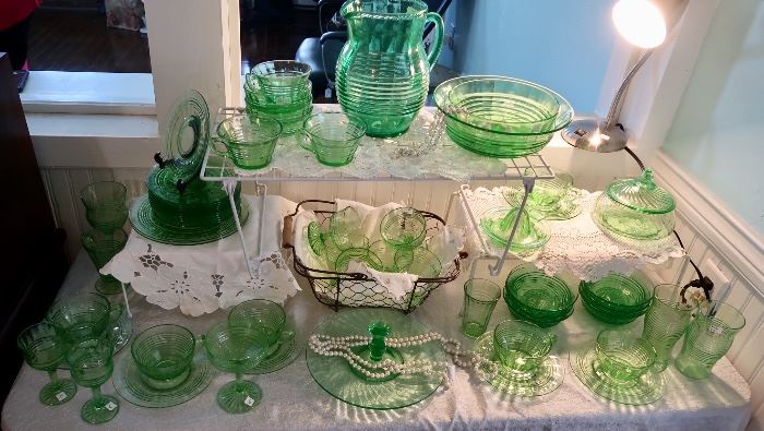 Vintage Green Depression Collection