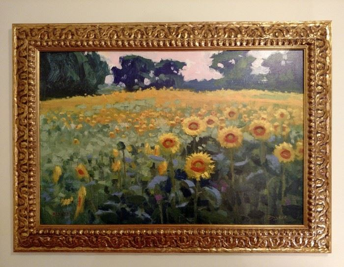 """Framed canvas print """"Sunflowers, Gentry Country"""" 1/200  BillyO by artist Billy O'Donnell"""
