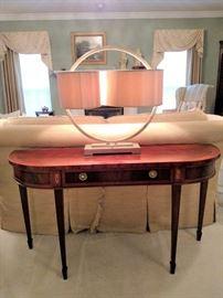 Hekman Furniture Co. mahogany console table