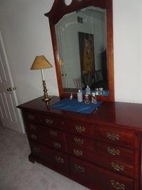 American Drew Cherry Dresser with Mirror