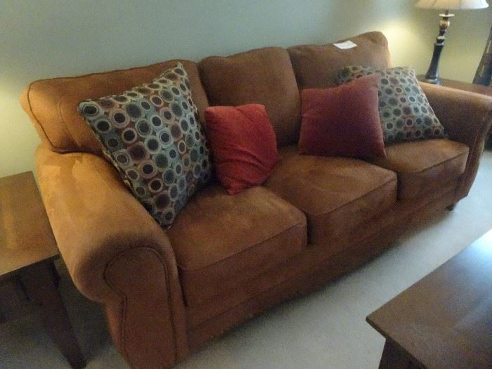 """Raymour & Flanigan Sofa with matching Love Seat        88""""L  X  38""""W  X  38""""H"""