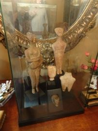 Collection of  Six Pre-Columbian Statuary - Closeup photos are posted on bottom of site.