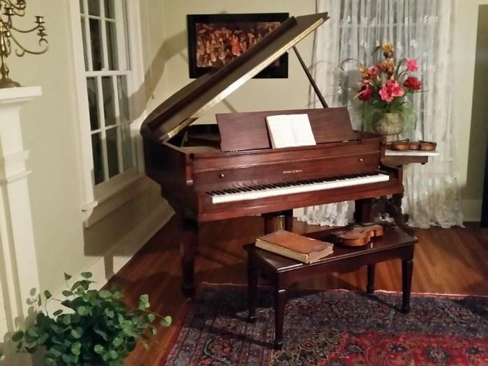 Steger & Sons baby grand piano