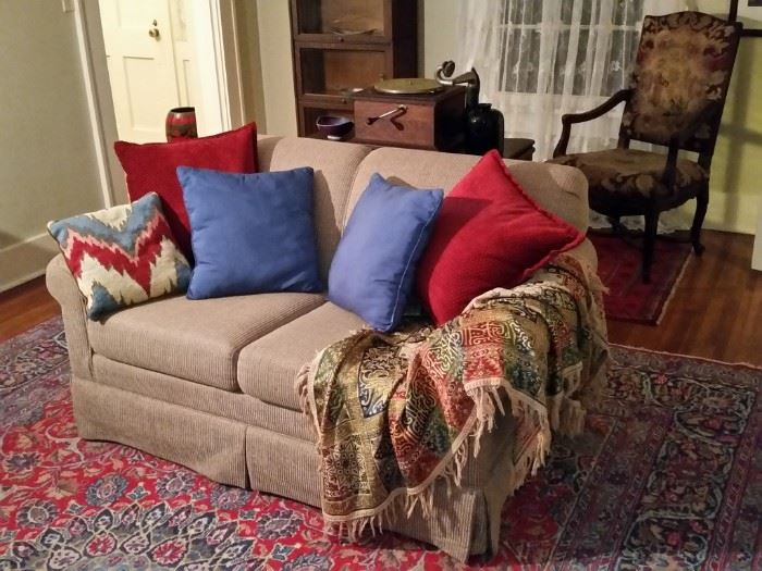 Cozy and comfortable loveseat