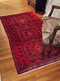 One of several handmade wool rugs for sale