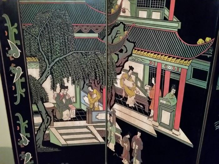 A closer look at the oriental screen