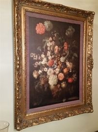 A closer look at the oil painting of roses