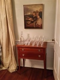 This smaller cherry sideboard was also built by  the Nashville furniture maker.