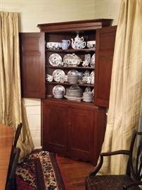 Large antique corner cabinet