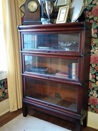 This barrister bookcase was made by The Globe-Wernicke Company.