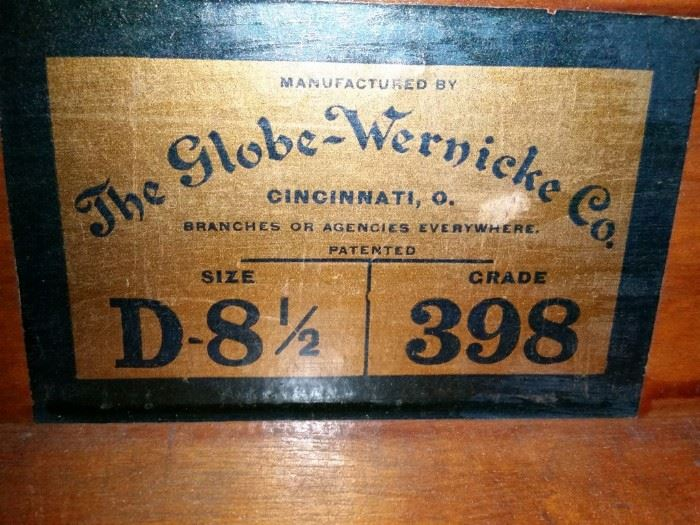 The Globe-Wernicke Co. was established in the late 1800s.
