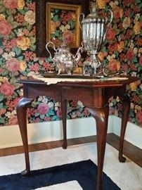 Mahogany drop leaf corner table