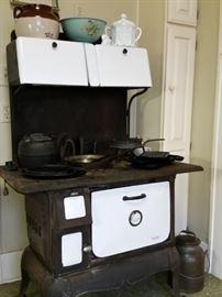 Vintage Enterprise  wood burning cast iron cook stove