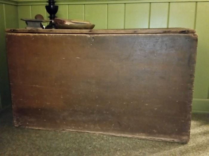 A document inside this old blanket chest says it's from the 1600s