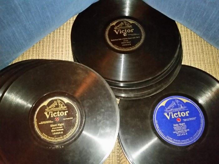 Collection of old Victor 78 rpm records
