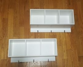 Shelving with hooks