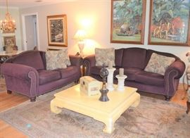 FAMILY ROOM FURNITURE AND ART
