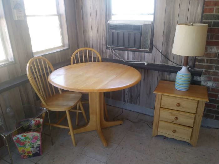 Small Kitchen Table & 2 Chairs, Nightstand