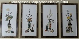 Four Seasons SoapStone Plaques