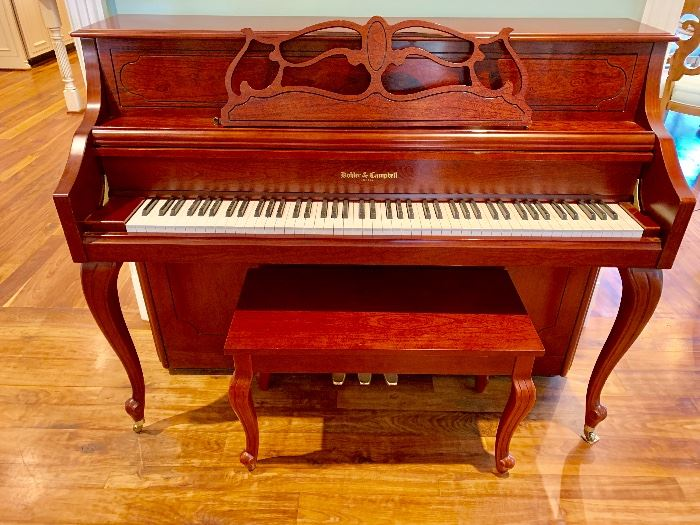 Kohler & Campbell upright piano and bench