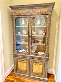 Painted Domain china hutch with glass front  doors