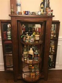 Swivel Door Bar Entertainment; Glasses, Decor and Liquor NOT included