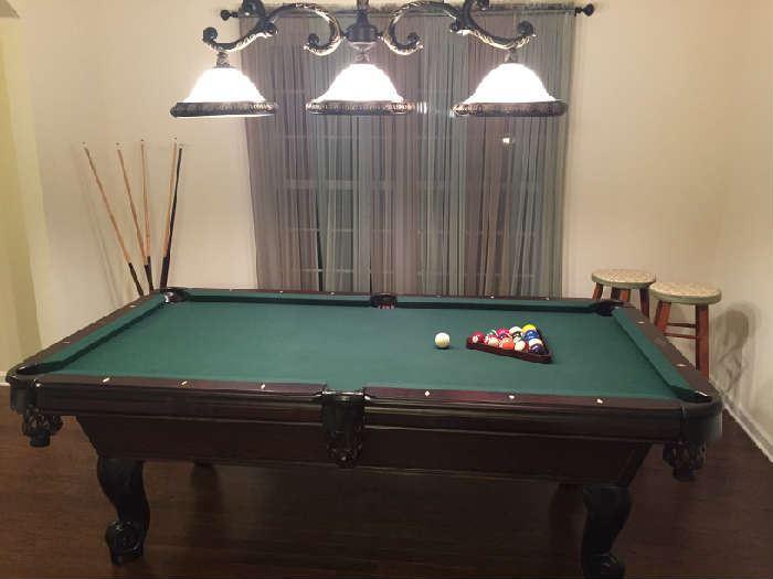 Dark Wood Pool Table