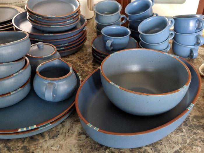 $200  Dansk Blue Mesa set of dishes