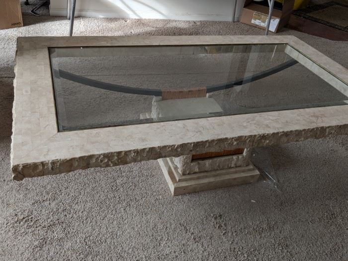 $60  Glass/cement cocktail table