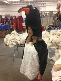 One Lot of 12 Children's Penguin Costumes with Heads.