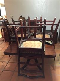 Vintage table with matching chairs