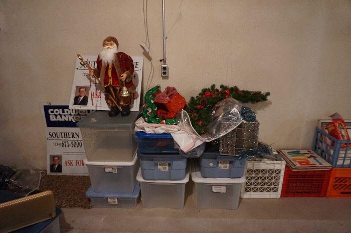 storage bins, Santa, Christmas