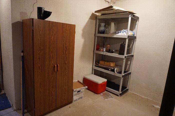 shelved storage cabinet, shelf